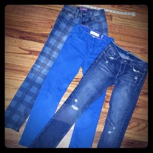 3 pairs of size 12 Big Girls Jeans
